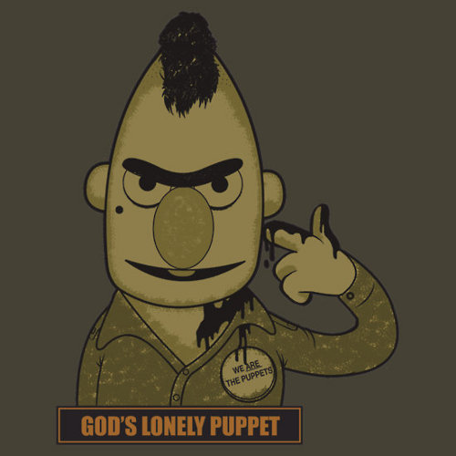 God's Lonely Puppet Bert Taxi Driver T-Shirt