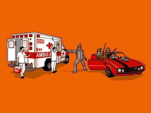 Tin Man Heart Ambulance Robbery T-Shirt