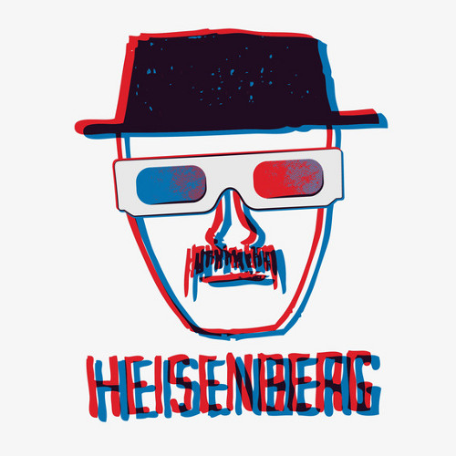 Heisenberg 3D Glasses Breaking Bad T-Shirt