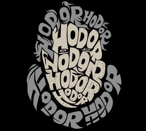 Hodor Hodor Face Game of Thrones Hodor T-Shirt