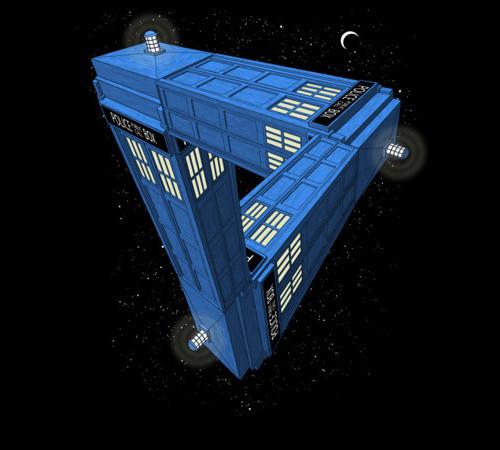 Tardis Optical Illusion Doctor Who T-Shirt