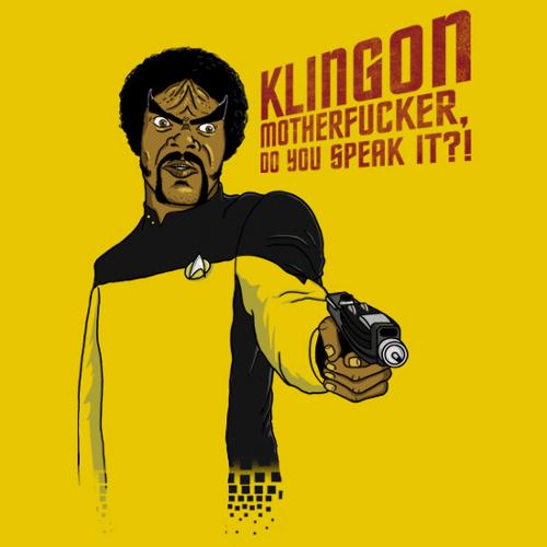 Klingon Motherfucker Star Trek Pulp Fiction T-Shirt
