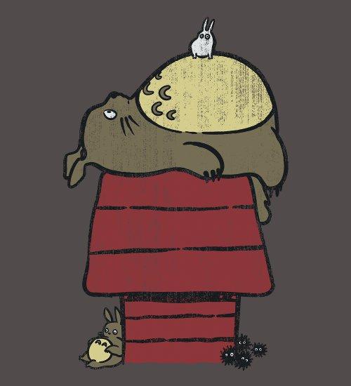 My Neighbor Totoro Snoopy T-Shirt