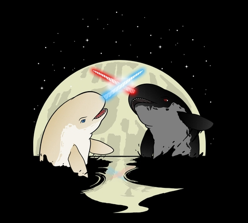 Narwhal Star Wars T-Shirt