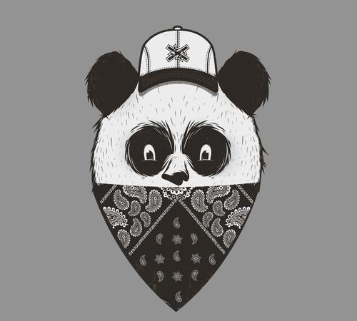 Panda Bandana T-Shirt