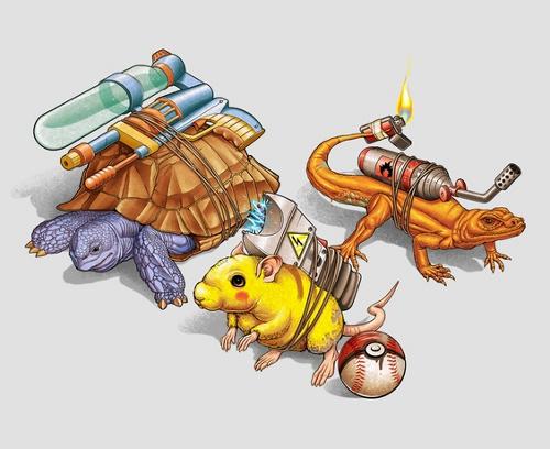 Pokemon Animal Costumes T-Shirt