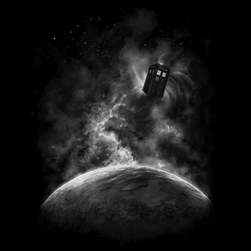 Tardis Space Moon Doctor Who T-Shirt