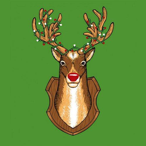 Rudolph Reindeer Mount Funny Christmas T-Shirt