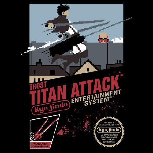 Attack on Titan Nintendo Game T-Shirt