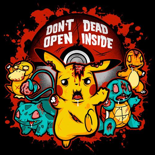 Walking Dead Pokemon Zombies T-Shirt