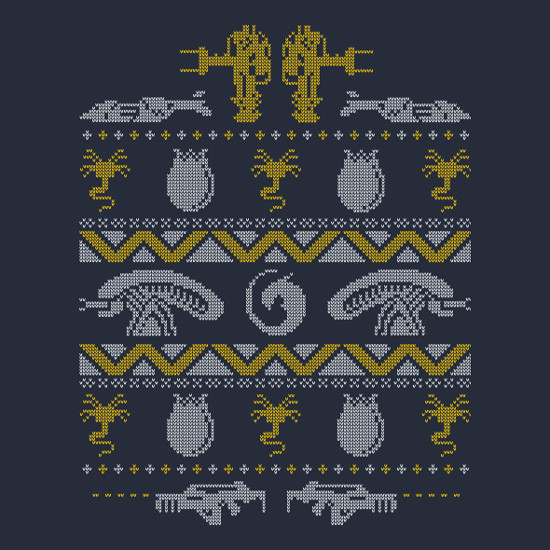 Aliens Xenomorph Christmas Ugly Sweater T-Shirt
