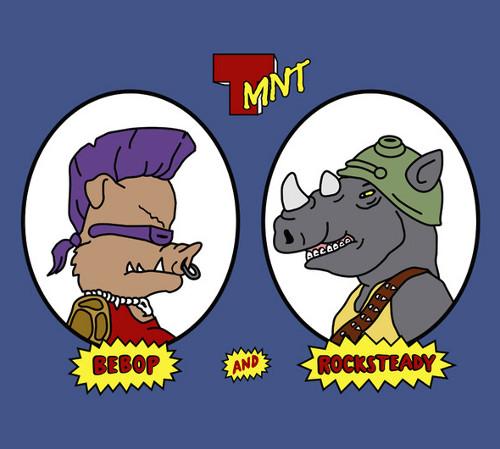 Bebop Rocksteady TMNT Beavis and Butt-head T-Shirt