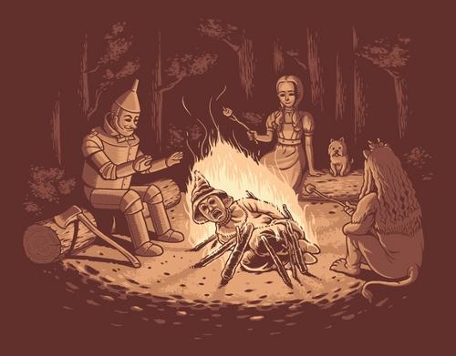 Scarecrow Campfire Wizard of Oz T-Shirt