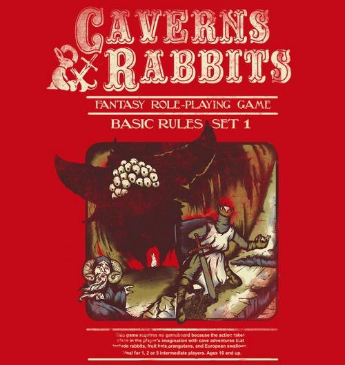Caverns Rabbits Monty Python Dungeons Dragons RPG T-Shirt