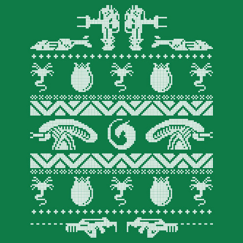 Xenomorph Knitting Pattern : Aliens Christmas Sweater Shirtigo