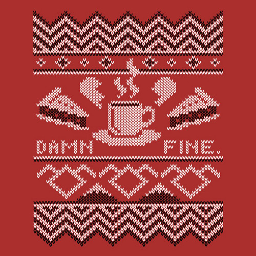 Damn Fine Coffee Pie Twin Peaks Holiday Sweater T-Shirt