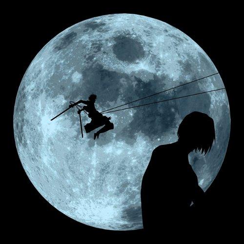 Attack on Titan ET Eren Moon Scene T-Shirt
