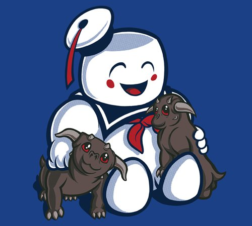 Stay Puft Kawaii Gozer Ghostbusters T-Shirt