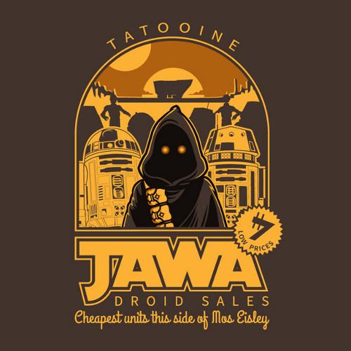 Jawa Droid Sales Star Wars T-Shirt