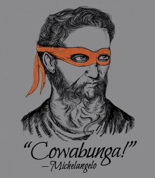Michelangelo Cowabunga Quote Artist Ninja T-Shirt