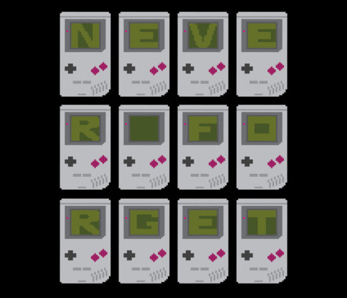 Never Forget Game Boy T-Shirt