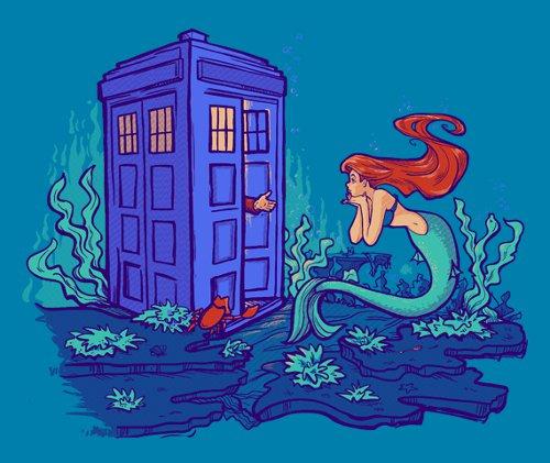 Little Mermaid Ariel Doctor Who T-Shirt