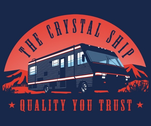 Crystal Ship Quality Breaking Bad T-Shirt