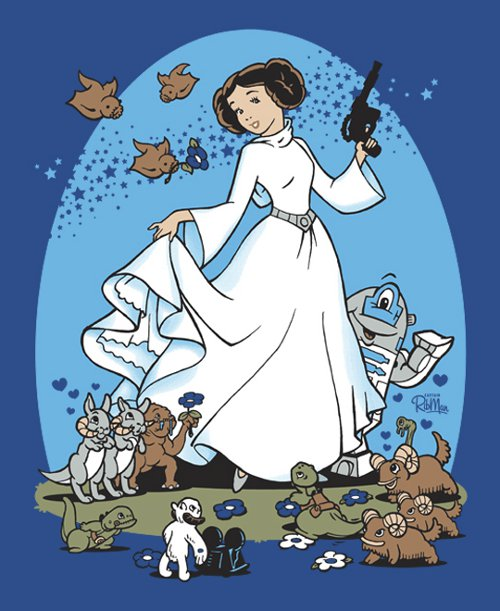 Disney Princess Leia Star Wars T-Shirt