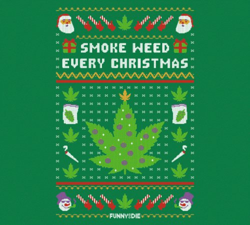 Smoke Weed Every Christmas Sweater T-Shirt