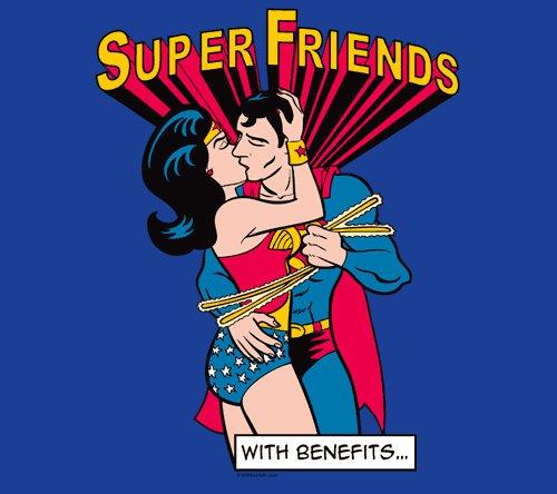 Super Friends with Benefits Superman Wonder Woman T-Shirt
