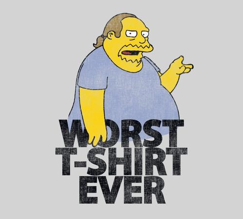 Worst T-Shirt Ever Comic Book Guy Simpsons T-Shirt