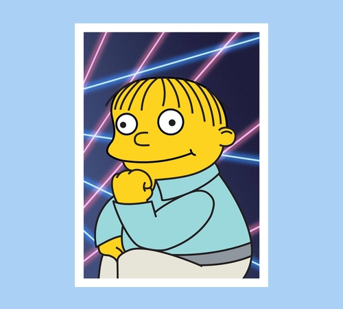 Ralph Wiggum Retro Laser Photo Simpsons T-Shirt
