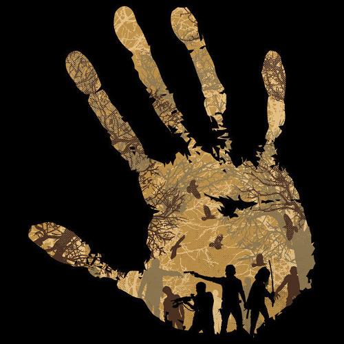 Walking Dead Hand Print Forest T-Shirt