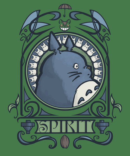 My Neighbor Totoro Art Nouveau T-Shirt