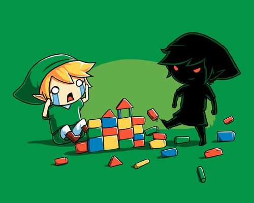 Dark Link Kicking Blocks Legend of Zelda T-Shirt