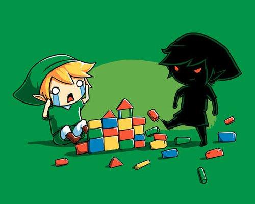Dark Link Kicking Blocks Legend of Zelda T-Shirt