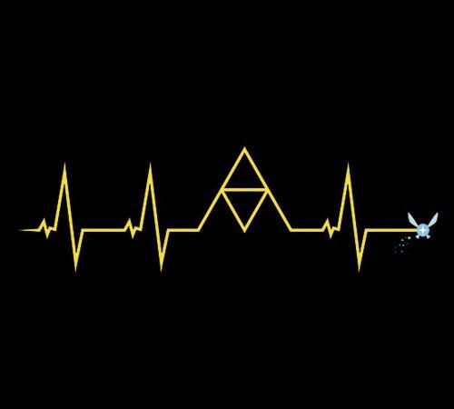 Legend Zelda Link Heartbeat Pulse Navi T-Shirt
