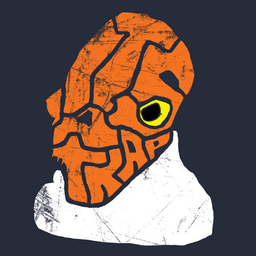 It's A Trap Admiral Ackbar Typography Face Star Wars T-Shirt