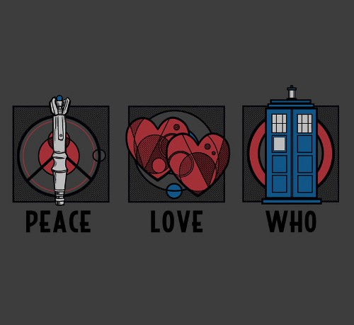 Peace Love Doctor Who T-Shirt