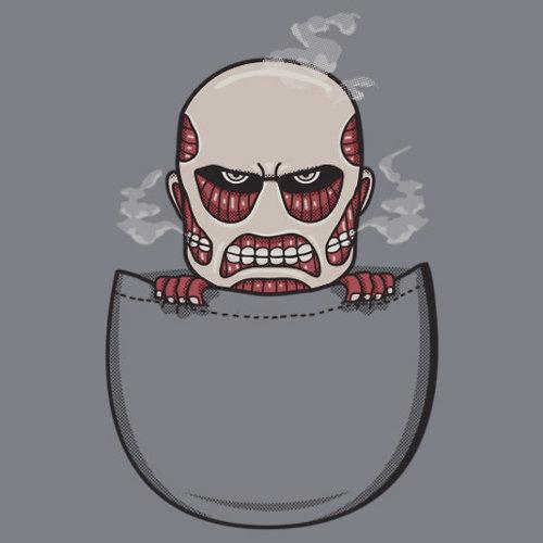 Attack on Titan Pocket T-Shirt