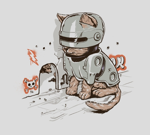 Robocop Cat T-Shirt