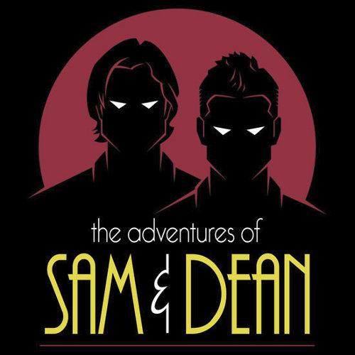 Adventures Sam Dean Winchester Supernatural Batman T-Shirt