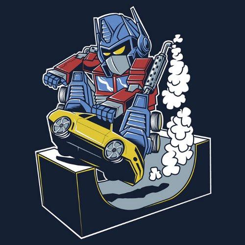 Optimus Prime Skater Halfpipe Transformers T-Shirt