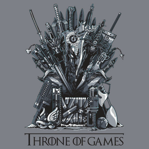 Throne of Video Game Weapons T-Shirt