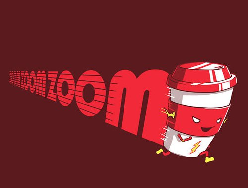 Zoom Coffee Cup Flash T-Shirt