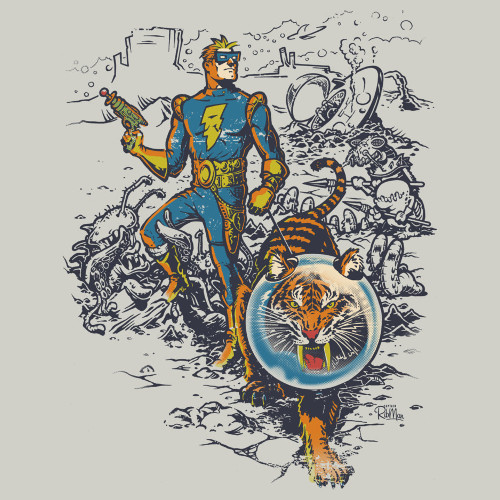 Calvin and Hobbes Spaceman Spiff T-Shirt