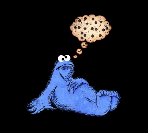 Cookie Monster Thought Bubble Funny T-Shirt
