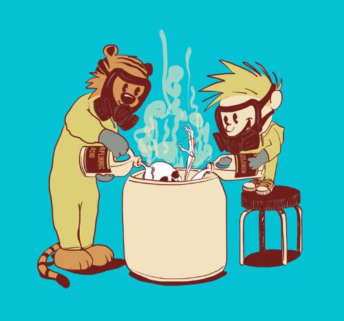 Breaking Bad Calvin Hobbes Dissolving Body Acid T-Shirt