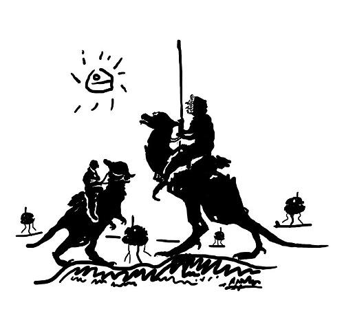 Han Solo Don Quixote Picasso Star Wars T-Shirt