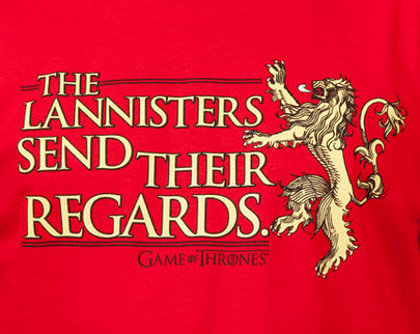Lannisters Send Regards Game of Thrones Red Wedding T-Shirt